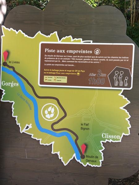 Parcours «murmures de Rocher»: La piste aux empreintes à Gorges