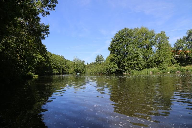 Le barrage des rivières - site de pêche à Le Longeron