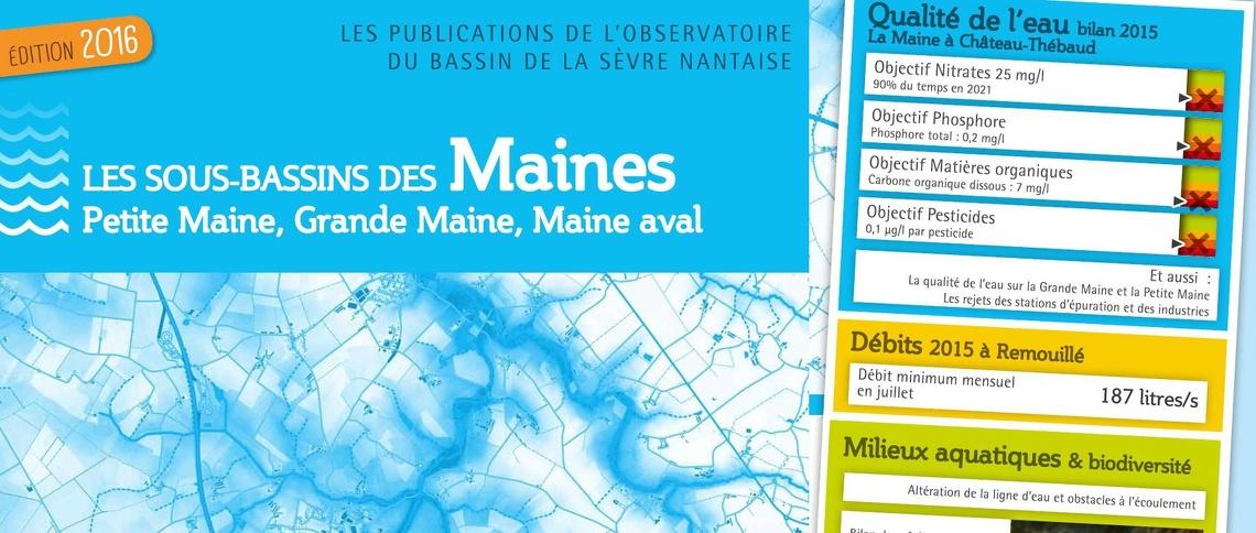 La publication de l'observatoire dédiée aux sous-bassins des Maines est disponible