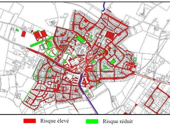 Carte zones à risque de transfert